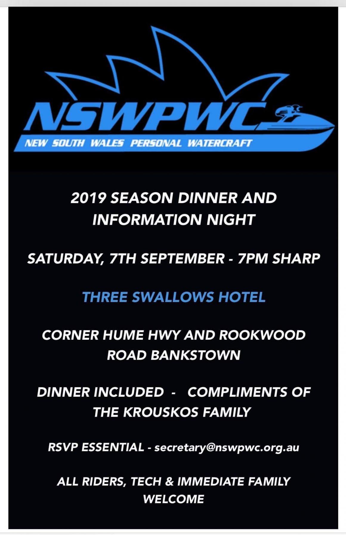 2019/2020 Pre Season Information Night